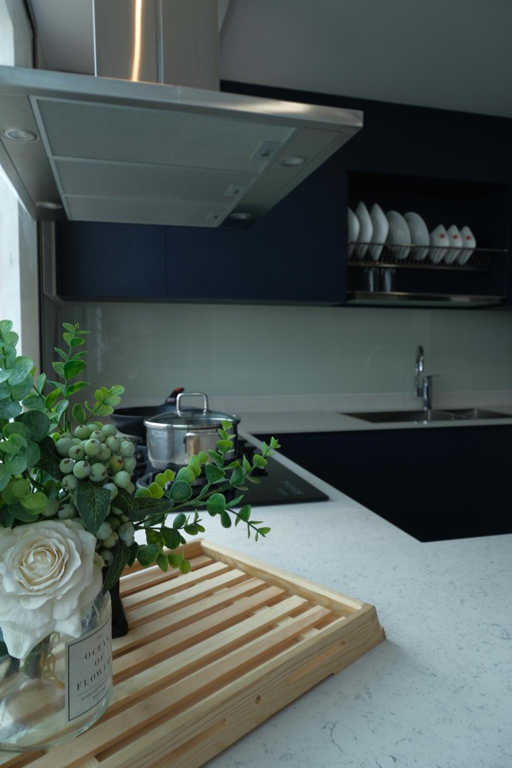 Eclectic, HDB, Kitchen, Yishun Street 81, Interior Designer, Starry Homestead