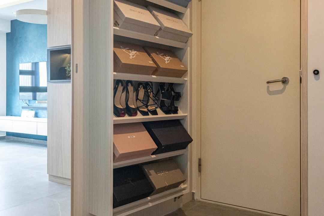 Ghim Moh Link, Meter Square, Scandinavian, Living Room, HDB, Household Shelter, Storeroom, Shoe Cabinet, Concealed Storage, Store