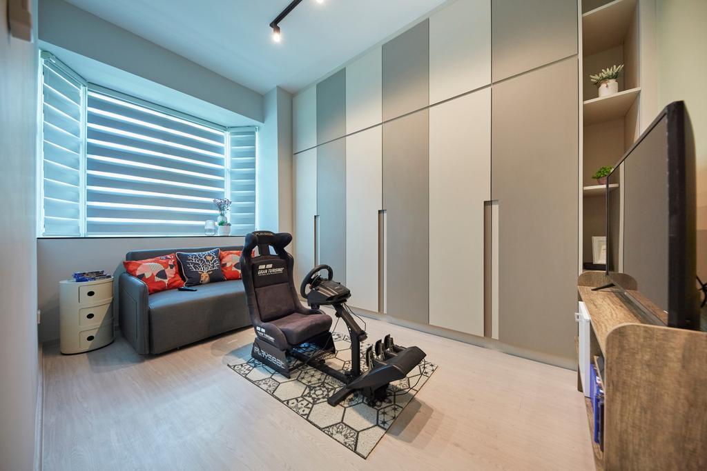 Modern, Condo, Bedroom, Veranda, Interior Designer, The Interior Lab, Minimalistic, Fitness, Exercise, Gym Room, Workout