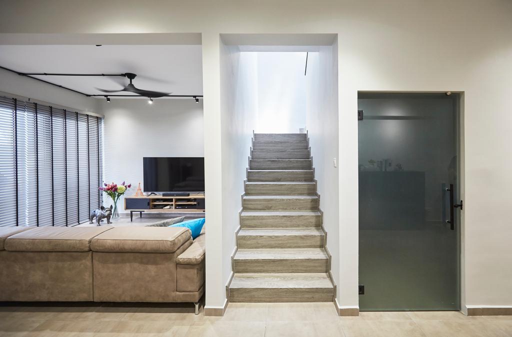 Minimalist, Landed, Living Room, Jalan Girang, Interior Designer, Blanc