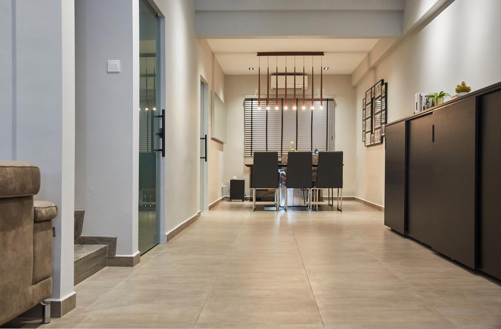 Minimalistic, Landed, Dining Room, Jalan Girang, Interior Designer, Blanc