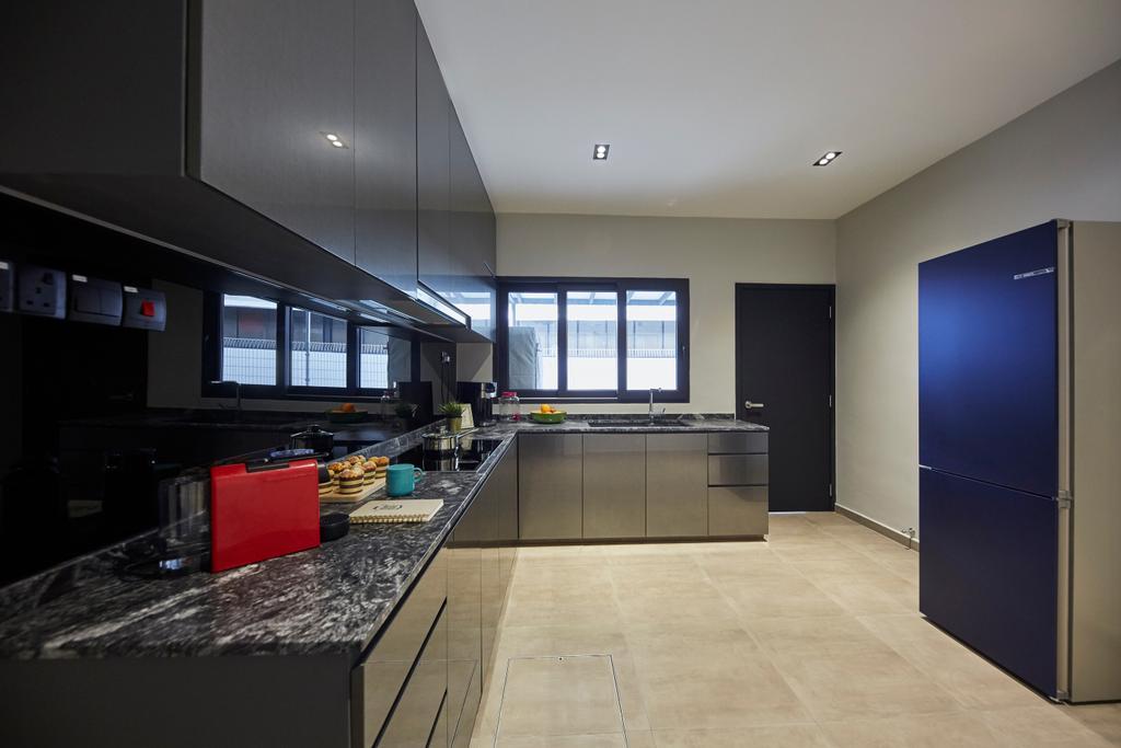 Minimalistic, Landed, Kitchen, Jalan Girang, Interior Designer, Blanc