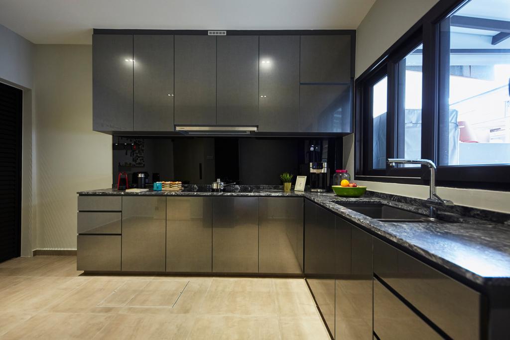 Minimalist, Landed, Kitchen, Jalan Girang, Interior Designer, Blanc