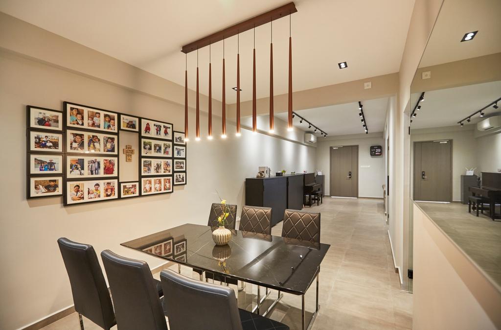 Minimalist, Landed, Dining Room, Jalan Girang, Interior Designer, Blanc