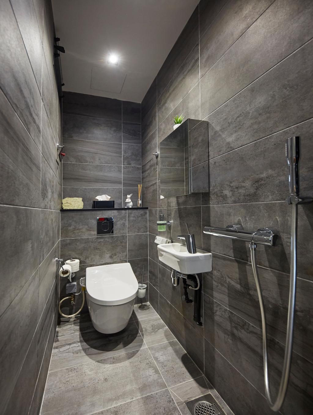 Minimalist, Landed, Bathroom, Jalan Girang, Interior Designer, Blanc
