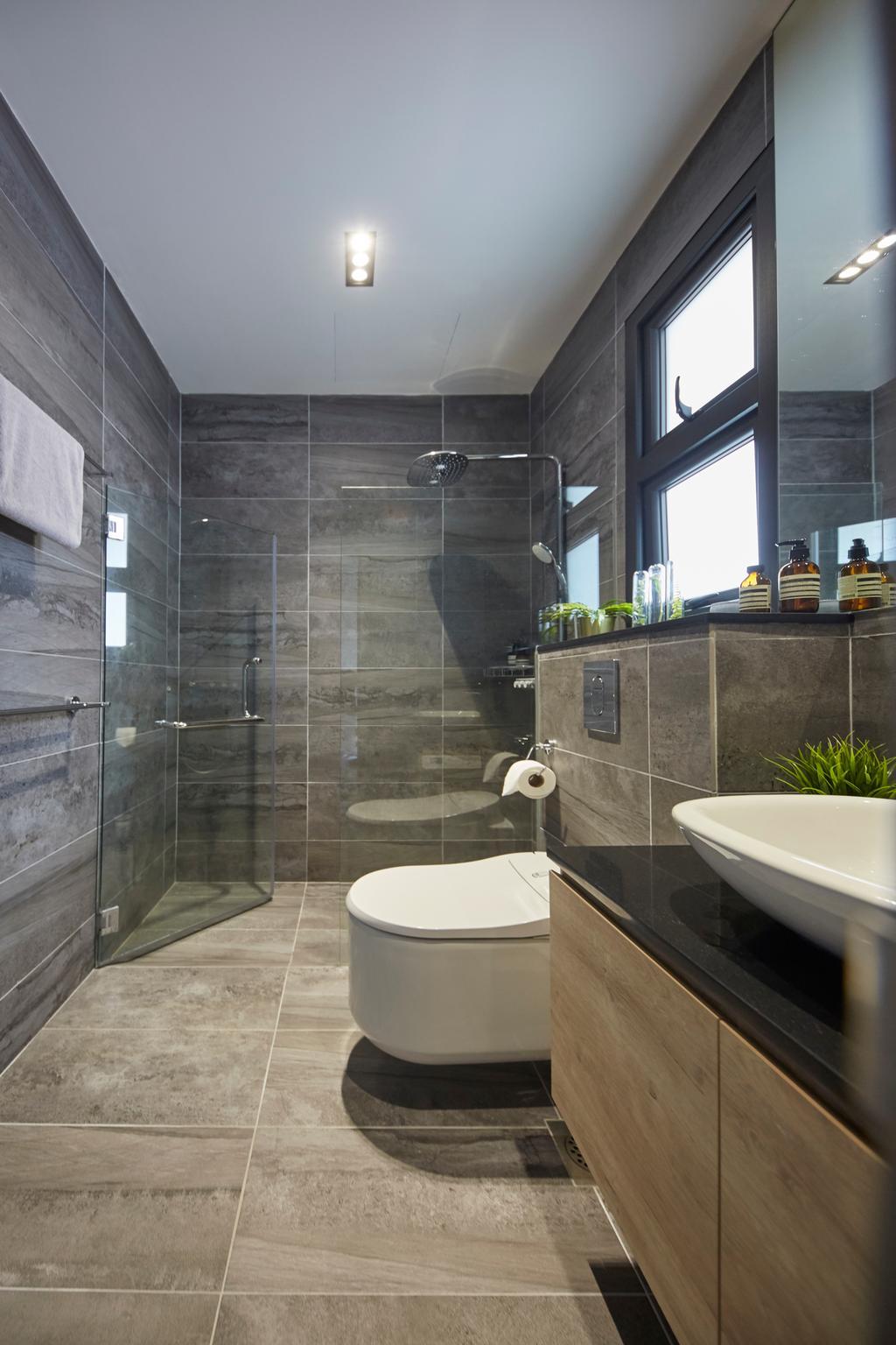 Minimalistic, Landed, Bathroom, Jalan Girang, Interior Designer, Blanc