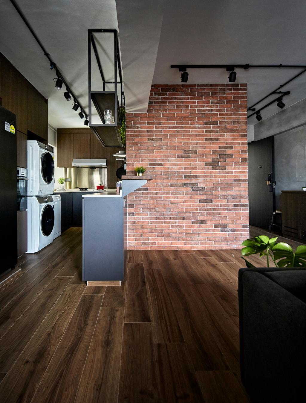 Industrial, HDB, Living Room, Cantonment Close, Interior Designer, The Interior Lab