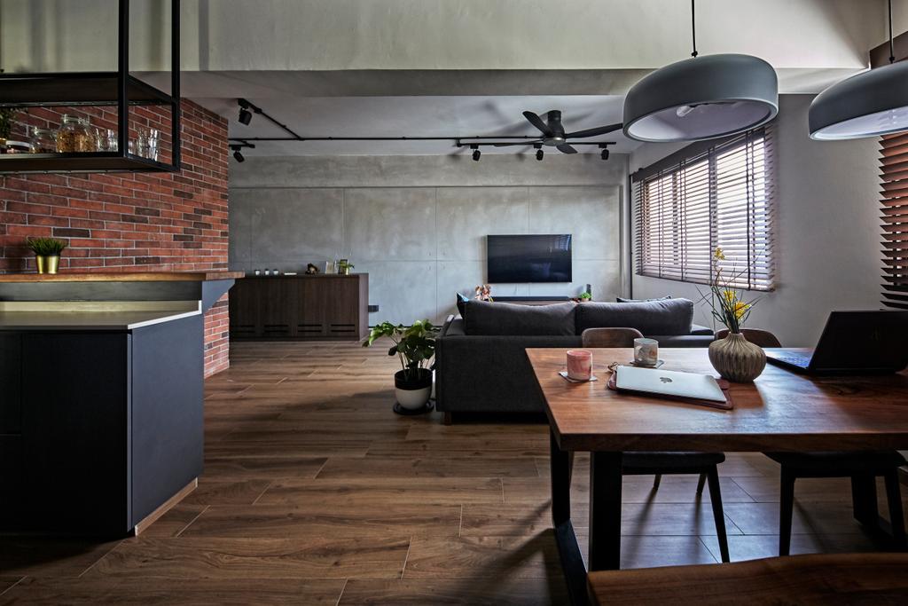 Industrial, HDB, Dining Room, Cantonment Close, Interior Designer, The Interior Lab
