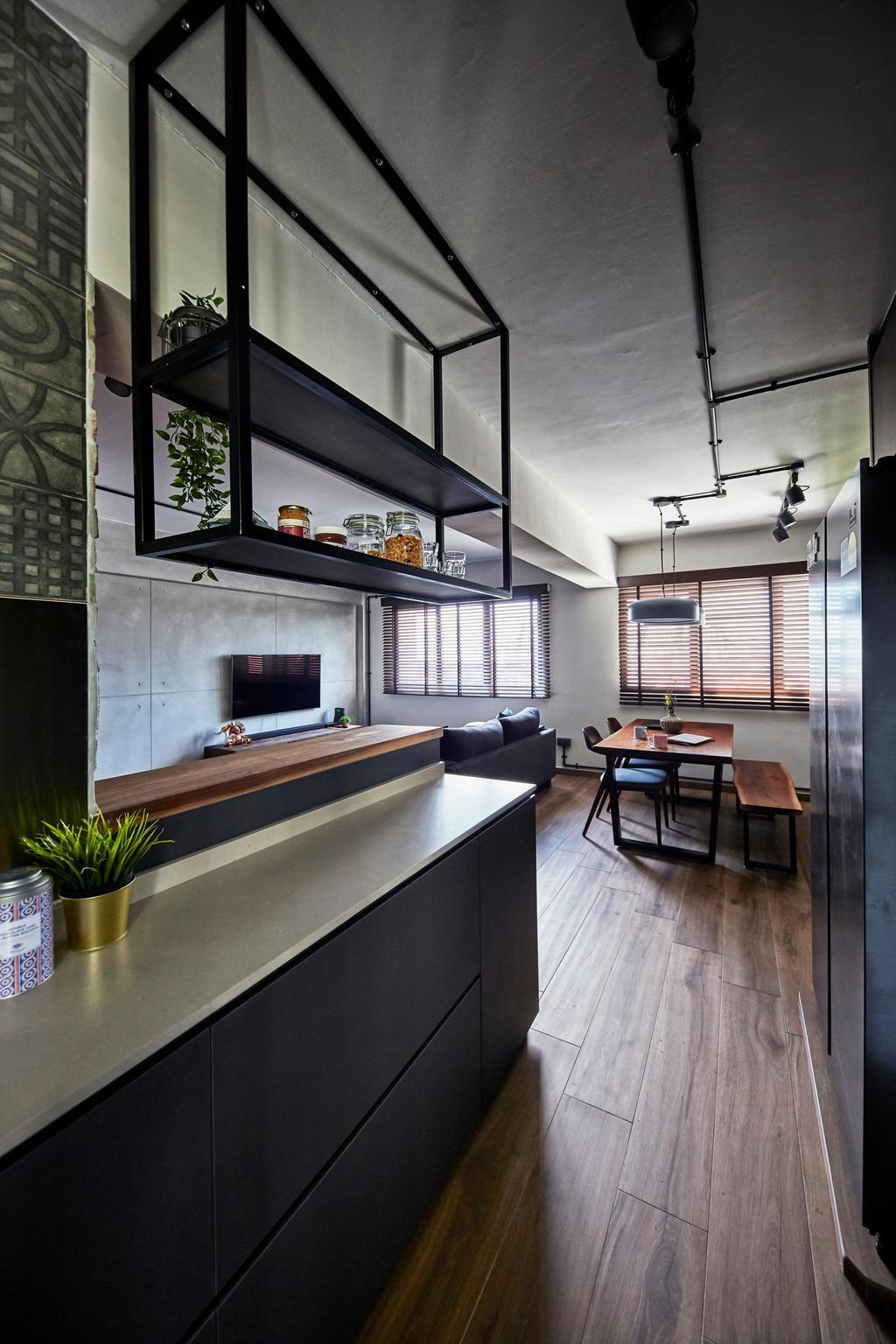 Industrial, HDB, Kitchen, Cantonment Close, Interior Designer, The Interior Lab
