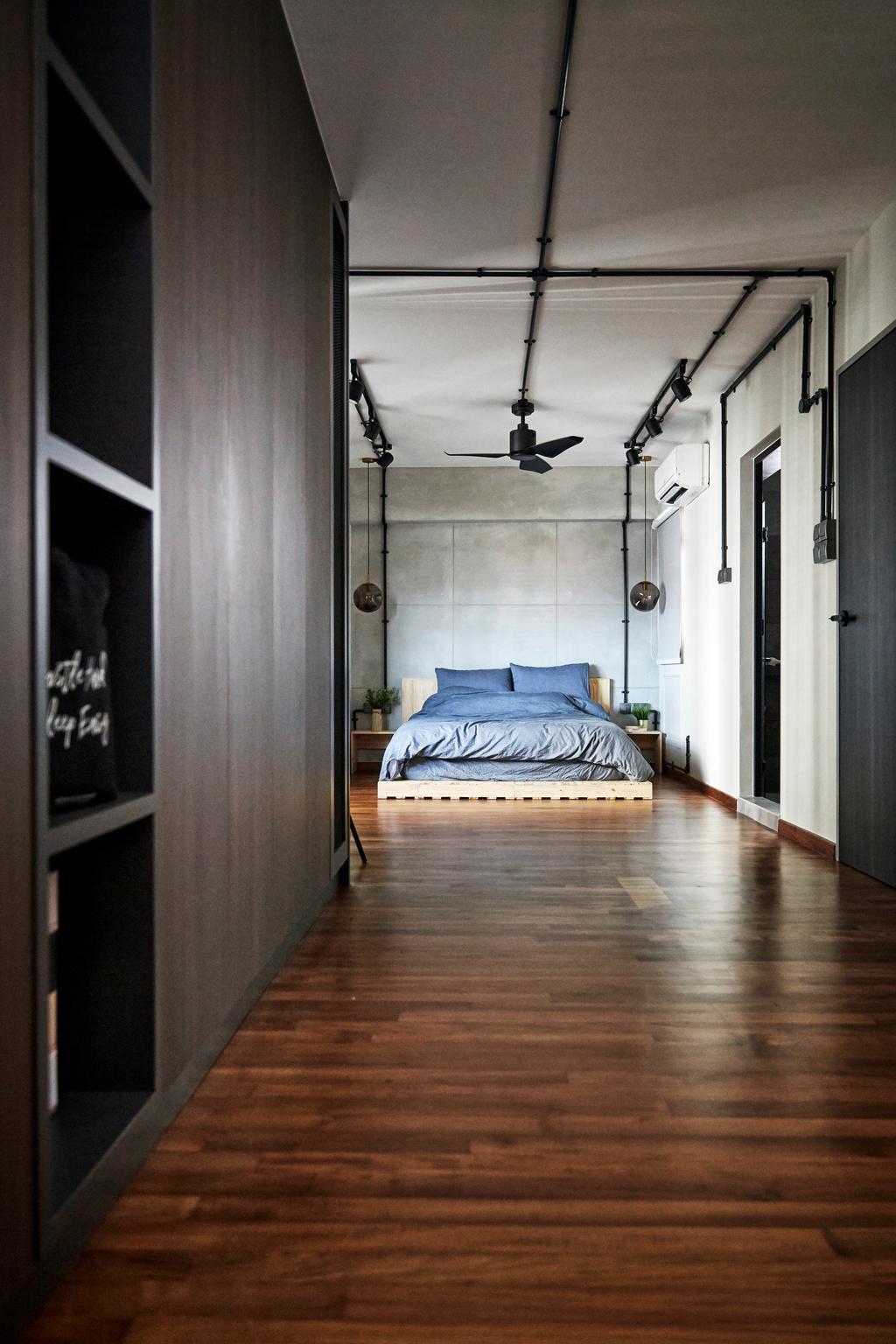 Industrial, HDB, Bedroom, Cantonment Close, Interior Designer, The Interior Lab