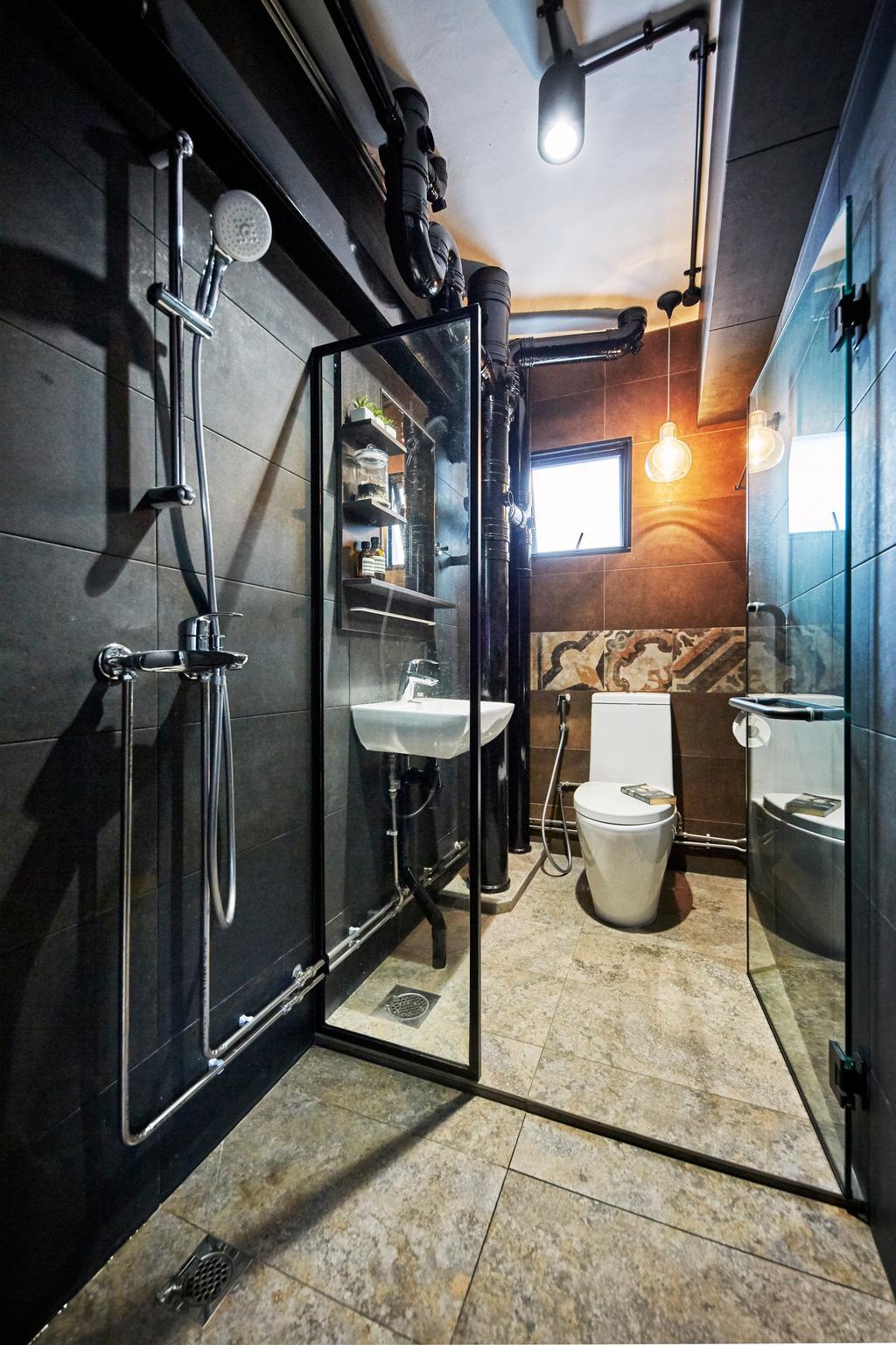 Industrial, HDB, Bathroom, Cantonment Close, Interior Designer, The Interior Lab
