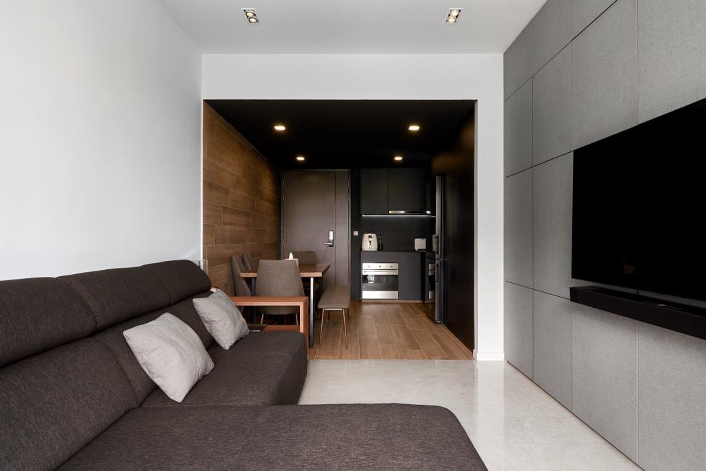Contemporary, Condo, Living Room, Botanique At Bartley, Interior Designer, Forefront Interior