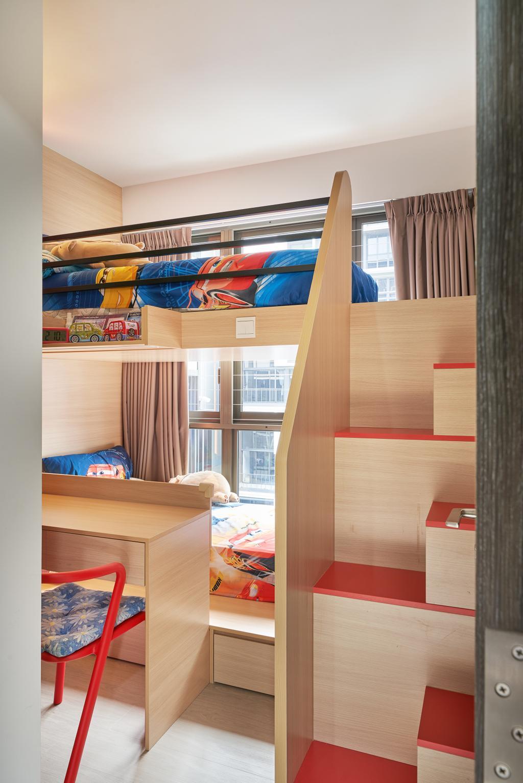 Modern, Condo, Bedroom, INZ Residences, Interior Designer, Ovon Design, Kids Furniture, Kids Room, Double Deck Bed