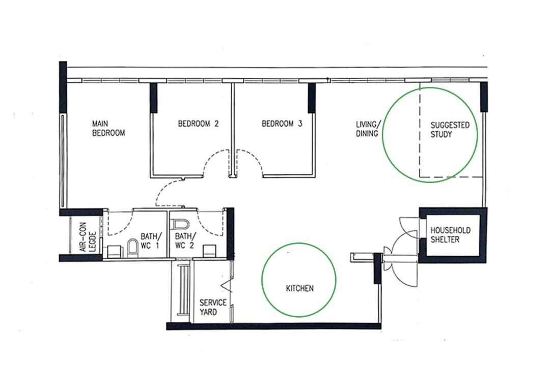 renovation Tampines HDB flat family home The Makers Design Studio