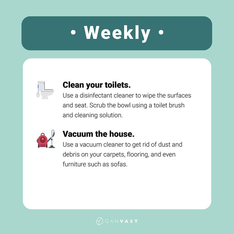 cleaning schedule for busy people