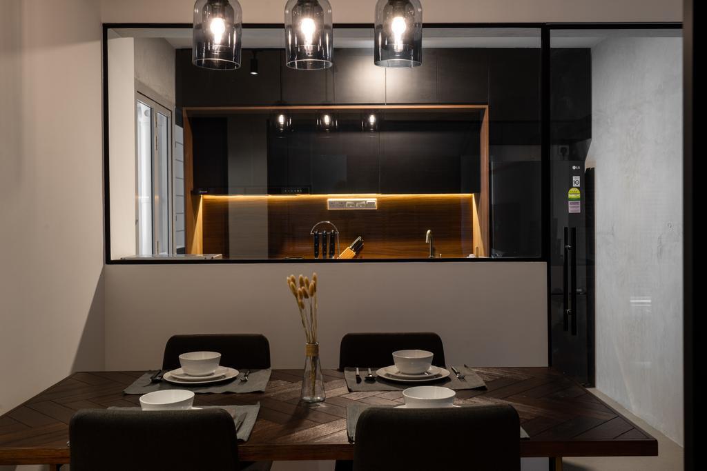 Contemporary, HDB, Dining Room, Bidadari Park Drive, Interior Designer, Inizio Atelier