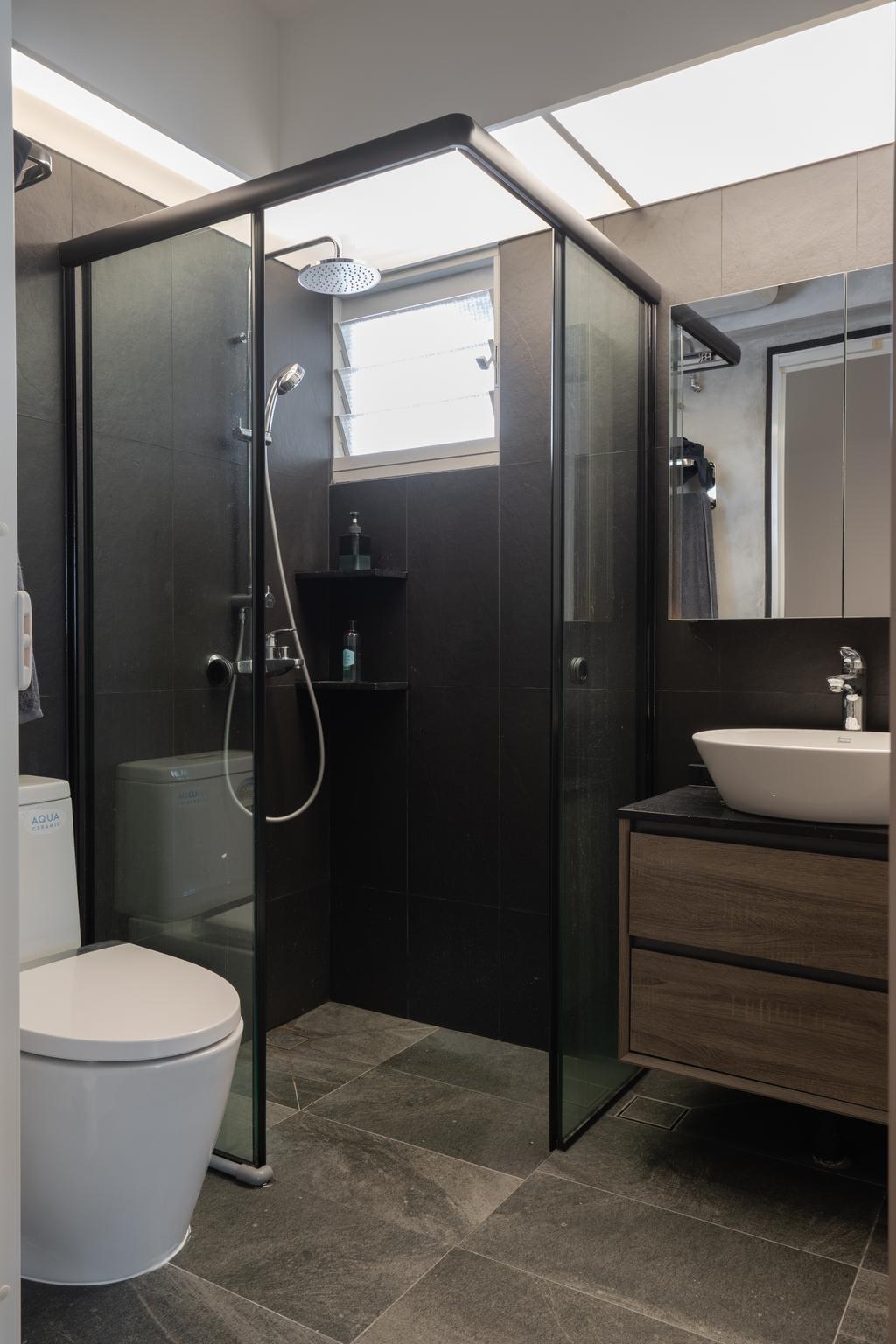 Contemporary, HDB, Bathroom, Bidadari Park Drive, Interior Designer, Inizio Atelier
