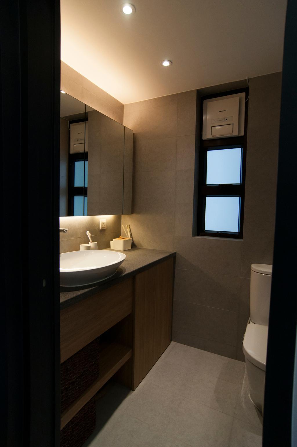 當代, 私家樓, 浴室, 置富花園, 室內設計師, 禾烽室內設計