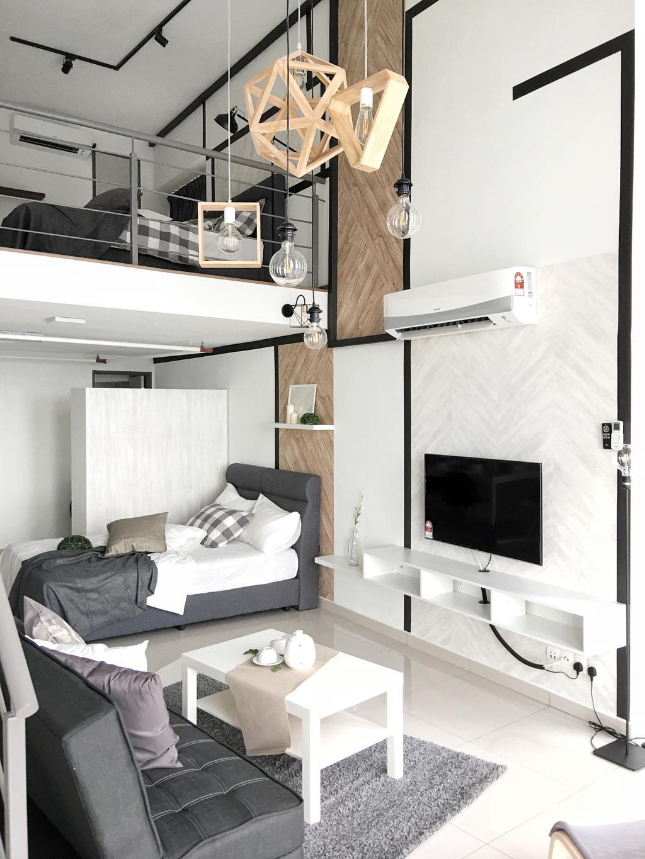 Scandinavian, Apartment, Living Room, The Pinnacle (A), Sunway, Interior Designer, Ingenious Makeover
