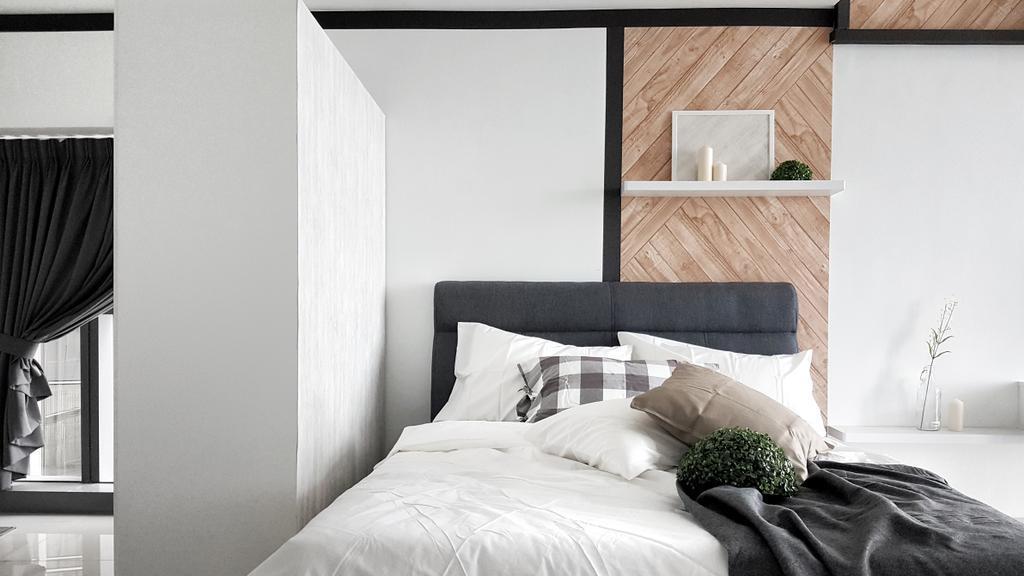 Scandinavian, Apartment, Bedroom, The Pinnacle (A), Sunway, Interior Designer, Ingenious Makeover