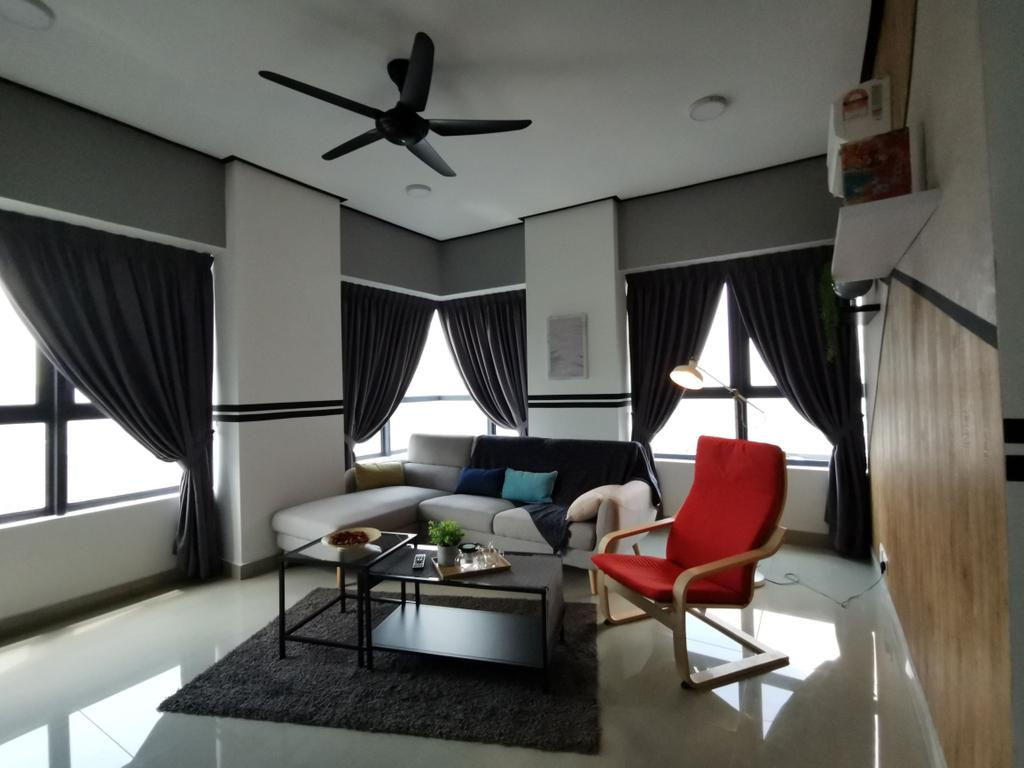 Modern, Condo, Living Room, Arte Plus, Jalan Ampang, Interior Designer, Ingenious Makeover