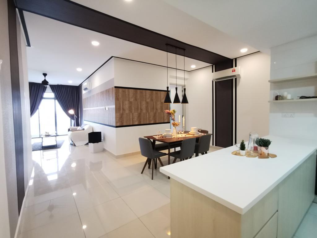 Scandinavian, Condo, Kitchen, Vivo Seputeh (D), Old Klang Road, Interior Designer, Ingenious Makeover