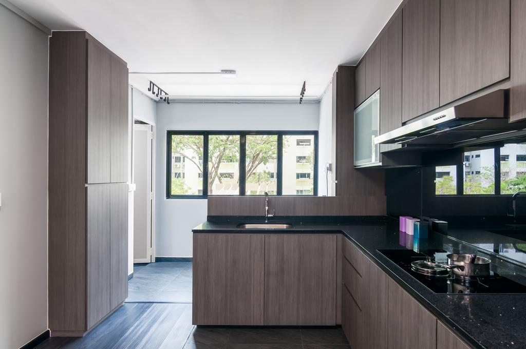 Contemporary, HDB, Kitchen, Clementi Avenue 3, Interior Designer, Livinci Interior