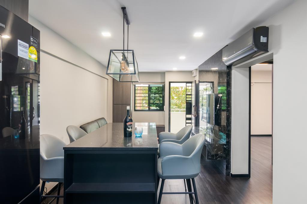 Contemporary, HDB, Dining Room, Clementi Avenue 3, Interior Designer, Livinci Interior
