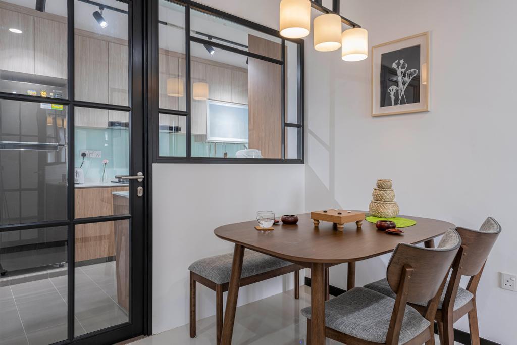 Contemporary, HDB, Dining Room, St George's Lane, Interior Designer, ECasa Studio