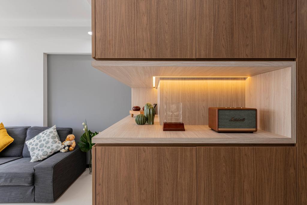Contemporary, HDB, Living Room, St George's Lane, Interior Designer, ECasa Studio