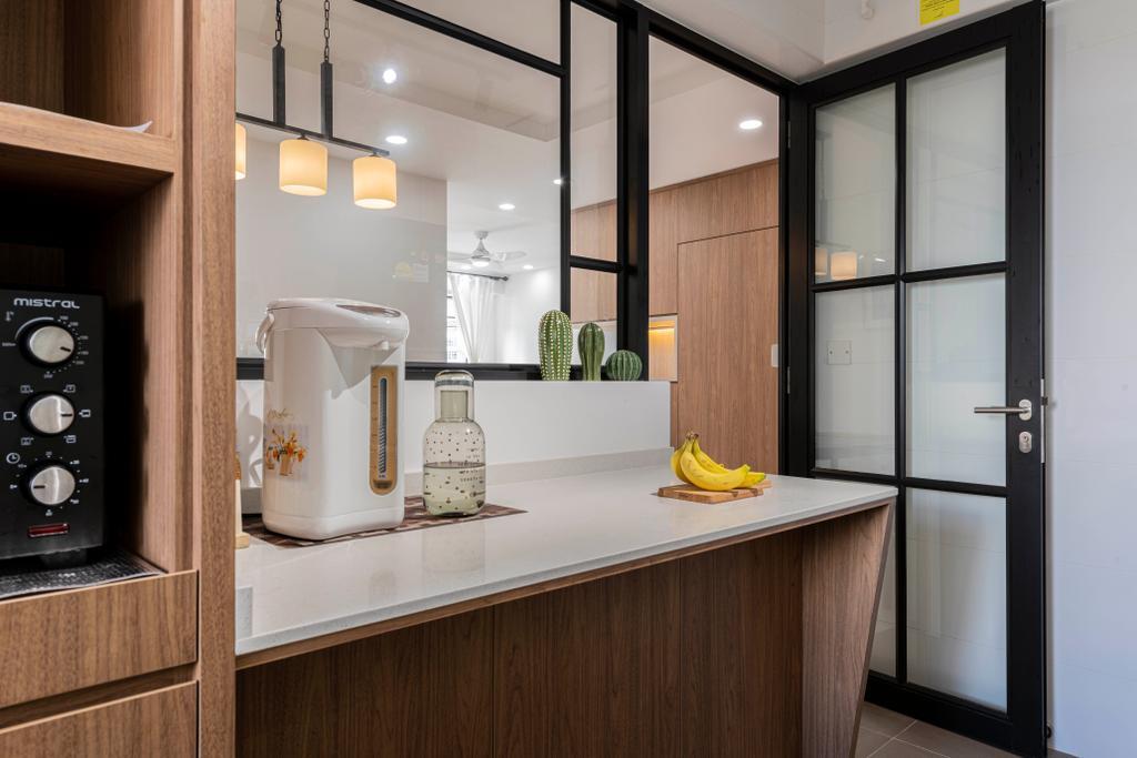 Contemporary, HDB, Kitchen, St George's Lane, Interior Designer, ECasa Studio