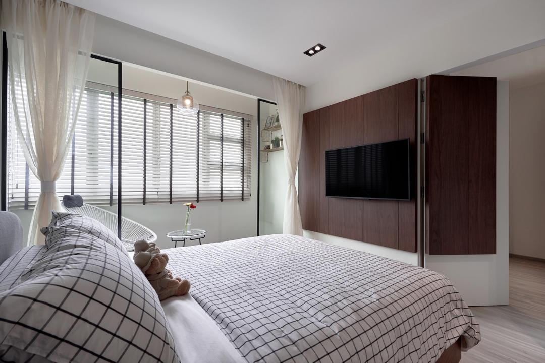 Jalan Tenteram, Image Creative Design, Contemporary, Bedroom, HDB, Hidden Door, Concealed Door