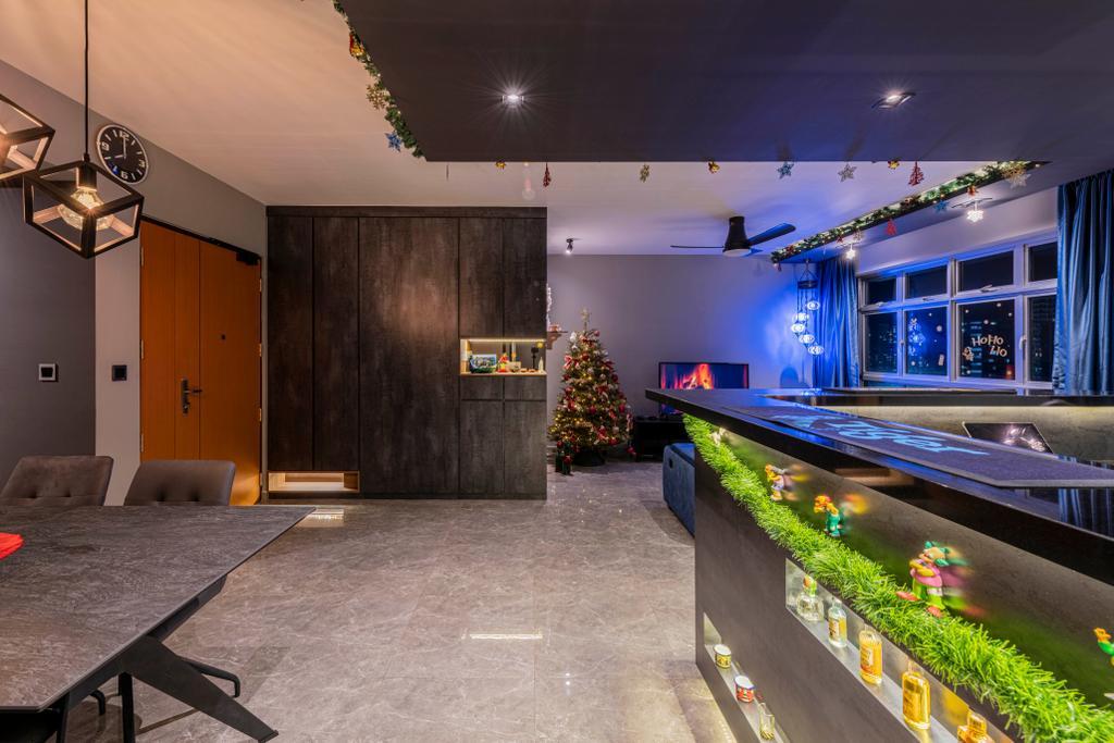 Contemporary, HDB, Living Room, St George's Lane, Interior Designer, Stylemyspace