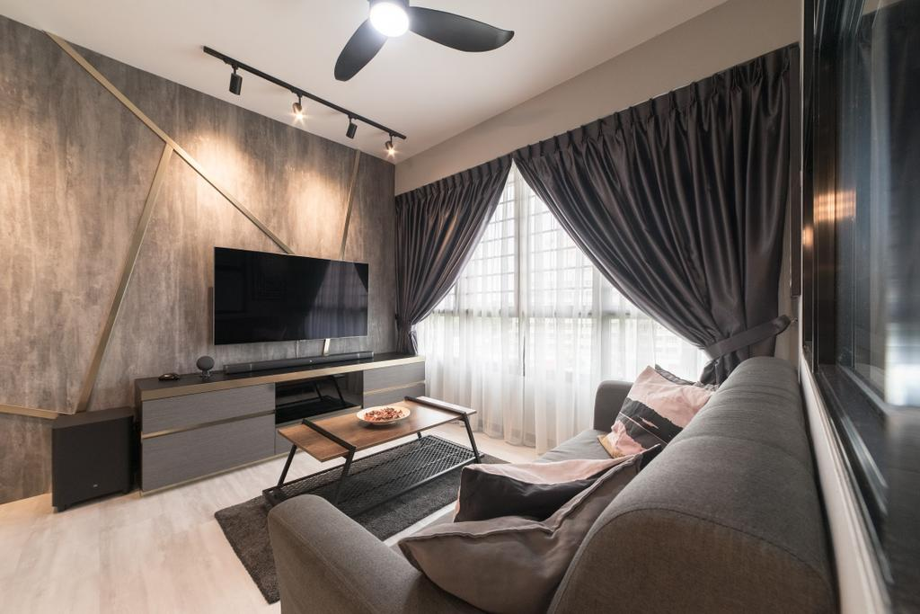 Contemporary, HDB, Living Room, Yishun Avenue 6, Interior Designer, MET Interior