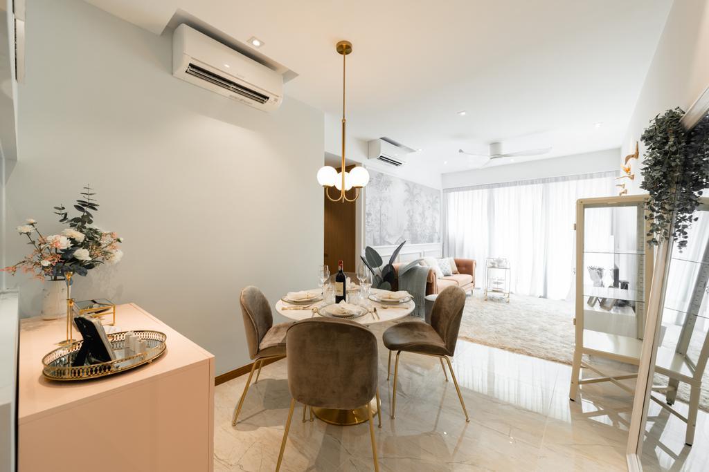 Contemporary, Condo, Dining Room, Kingsford Waterbay, Interior Designer, 19 Eighty Three