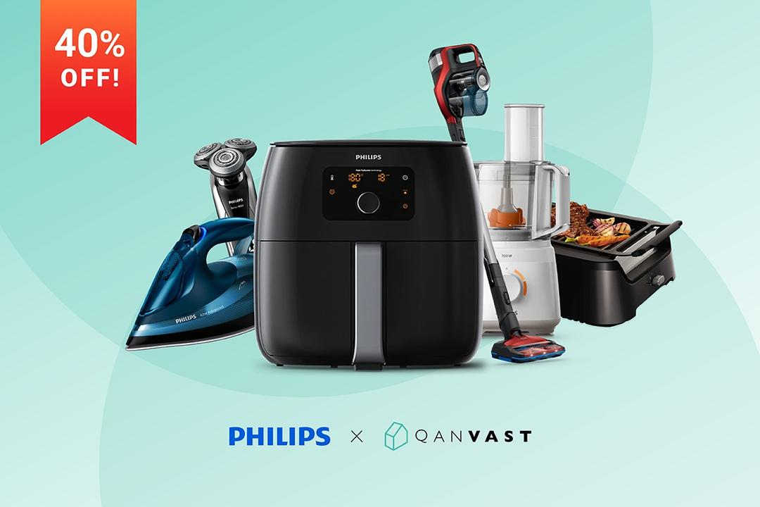 Enquire with IDs to enjoy 40% off Philips appliances!