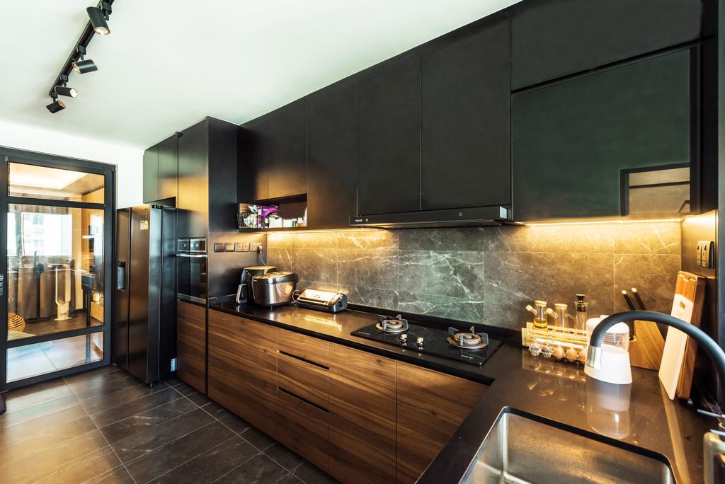 Contemporary, HDB, Kitchen, Serangoon Central, Interior Designer, Design Story