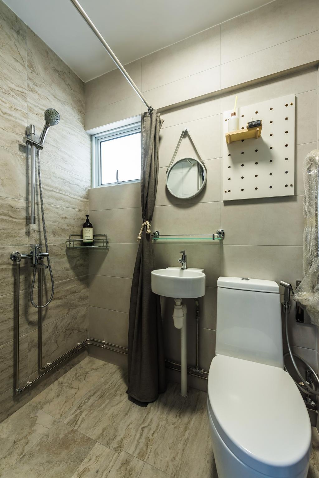 Contemporary, HDB, Bathroom, Serangoon Central, Interior Designer, Design Story
