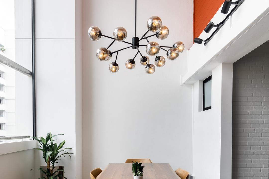Serangoon Central, Apex Studios, Modern, Dining Room, HDB, High Ceiling, Yard, Maisonette