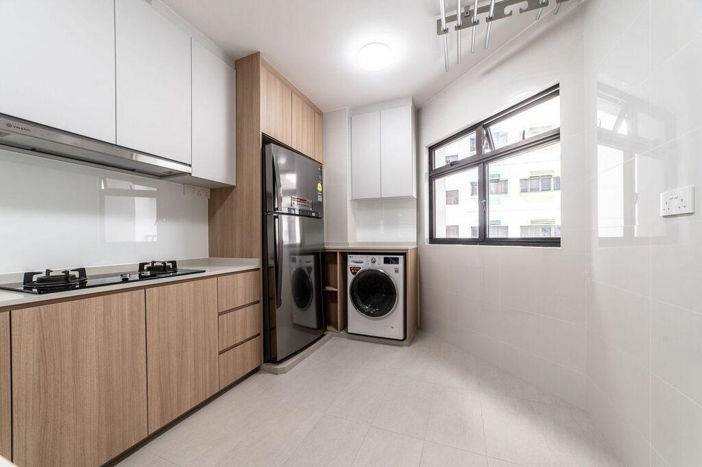 Contemporary, HDB, Kitchen, Bedok North Road, Interior Designer, Luova Project Services