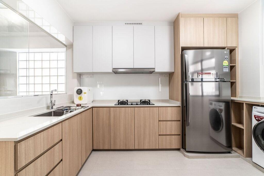 Contemporary, HDB, Kitchen, Bedok North Road, Interior Designer, Luova Project Services