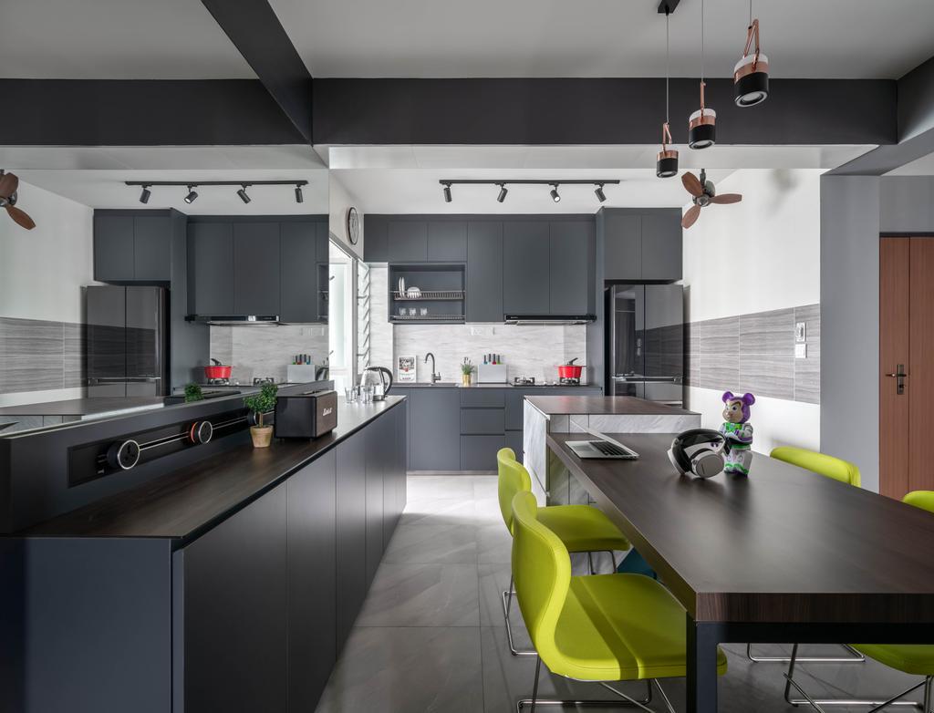 Contemporary, HDB, Kitchen, Woodlands Street 13, Interior Designer, Ethereall