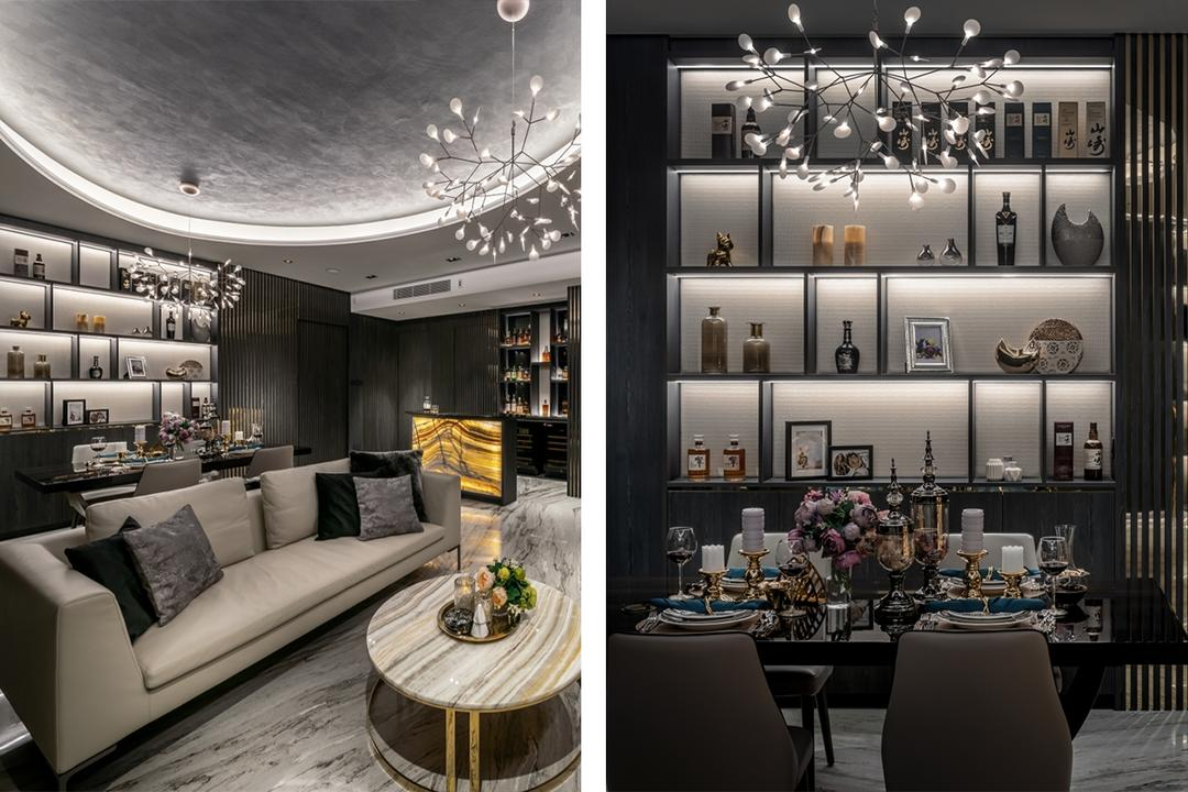 This All-Black Condo Has the Marks of a Luxe Hotel-Like Home