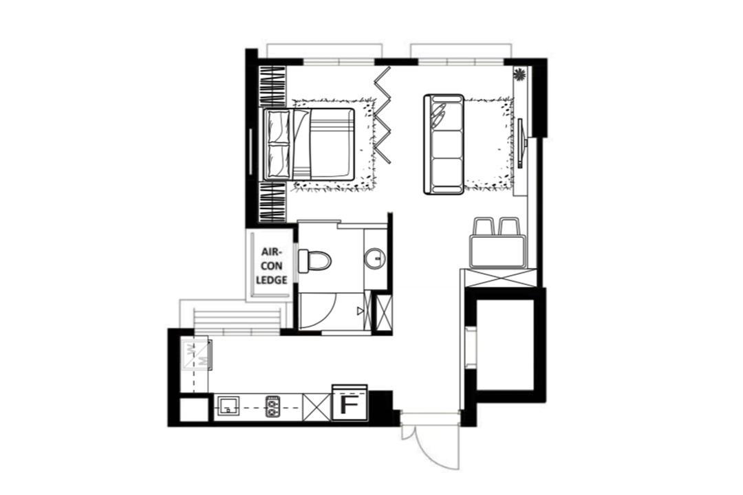 Punggol Northshore HDB Flat design layout floor plan