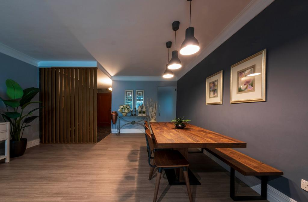 Modern, HDB, Dining Room, Punggol Central, Interior Designer, Starry Homestead