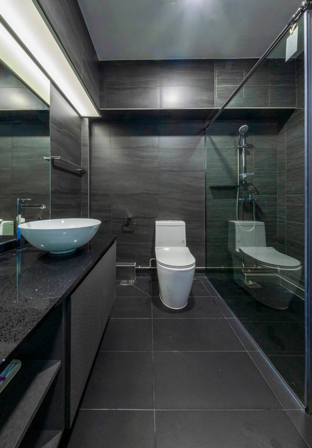 Modern, HDB, Bathroom, Punggol Central, Interior Designer, Starry Homestead