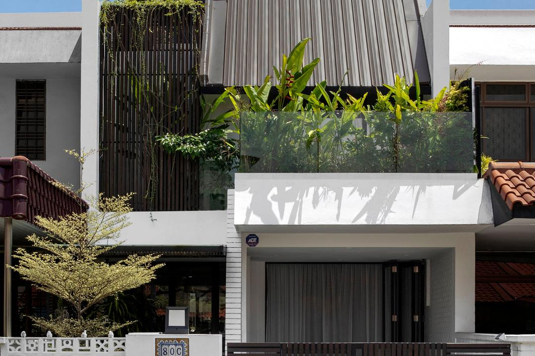 Lor Melayu, The Design Abode, Contemporary, Landed, Exterior, Facade, Roofing, Roof