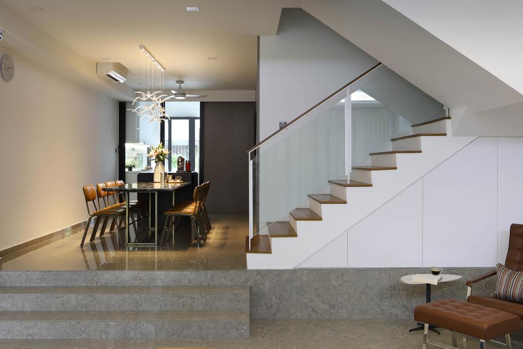 Contemporary, Landed, Dining Room, Lor Melayu, Interior Designer, The Design Abode