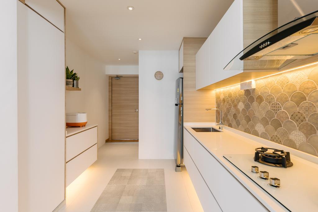 Contemporary, HDB, Kitchen, Tampines Street 21, Interior Designer, Swiss Interior Design