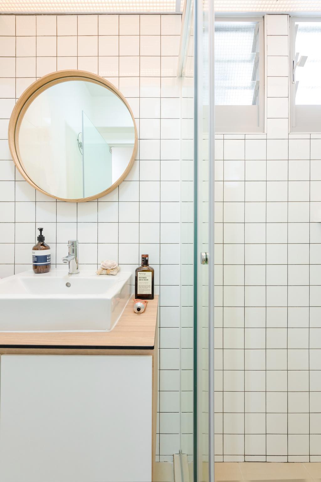Scandinavian, HDB, Bathroom, Tampines North Drive 1, Interior Designer, Archive Design